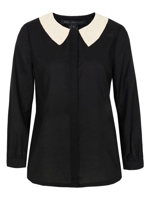 Marc by Marc Jacobs M1122226 Opal Embroidery Black Shirt at Coggles.com online store