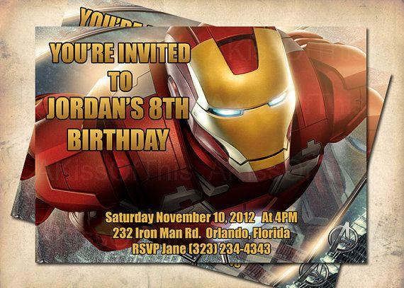 Iron man invites birthdays pinterest iron man birthday men iron man invites filmwisefo