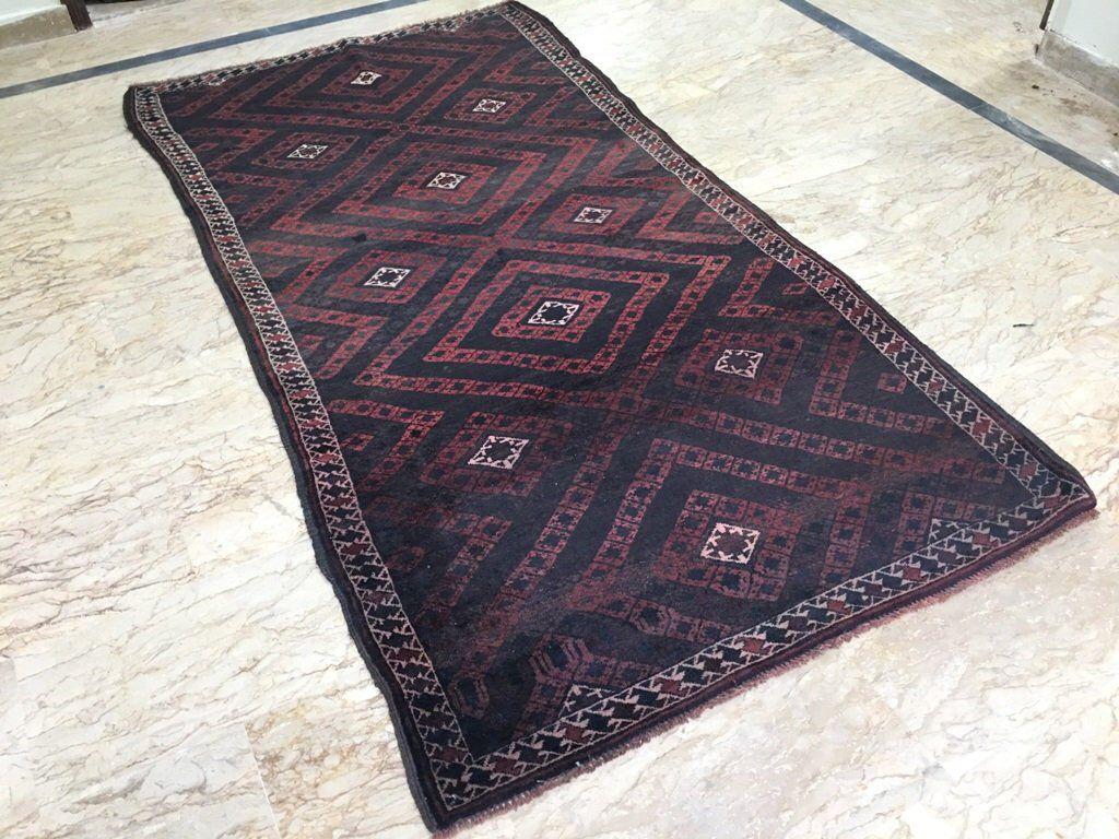 4 X 8 Vintage Afghan Balouch Rug Afghan Tribal Wool Area Rug