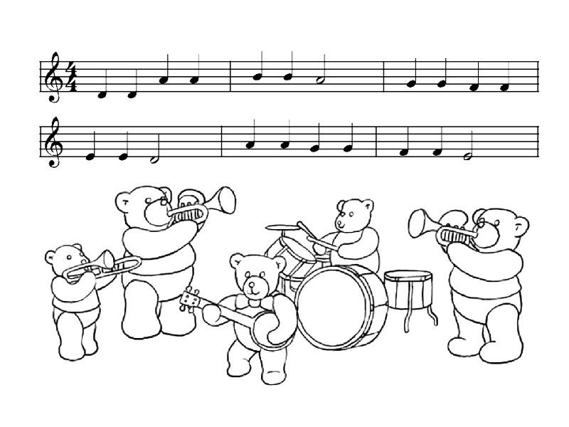 kids under 7 musical instruments coloring pages - Triangle Instrument Coloring Page