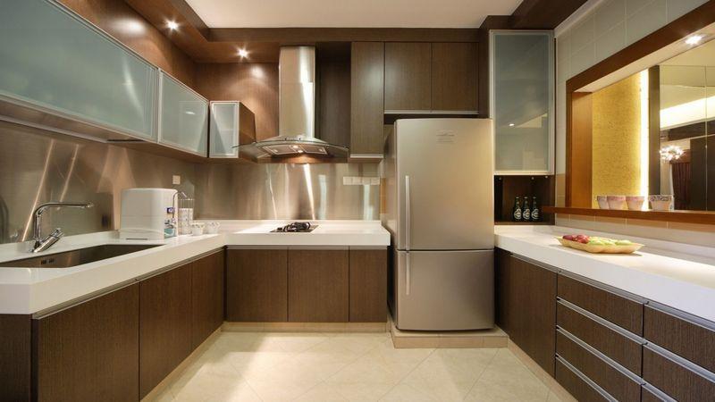Gorgeous Organized Your Small Kitchen With L Shape Kitchen Design Closed Kitchen Design Kitchen Interior Kitchen Design