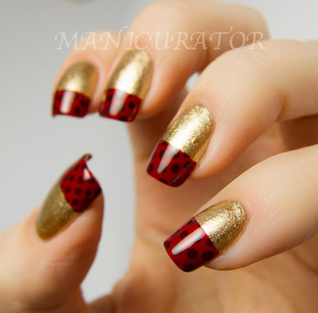 Dotted French Nail Art