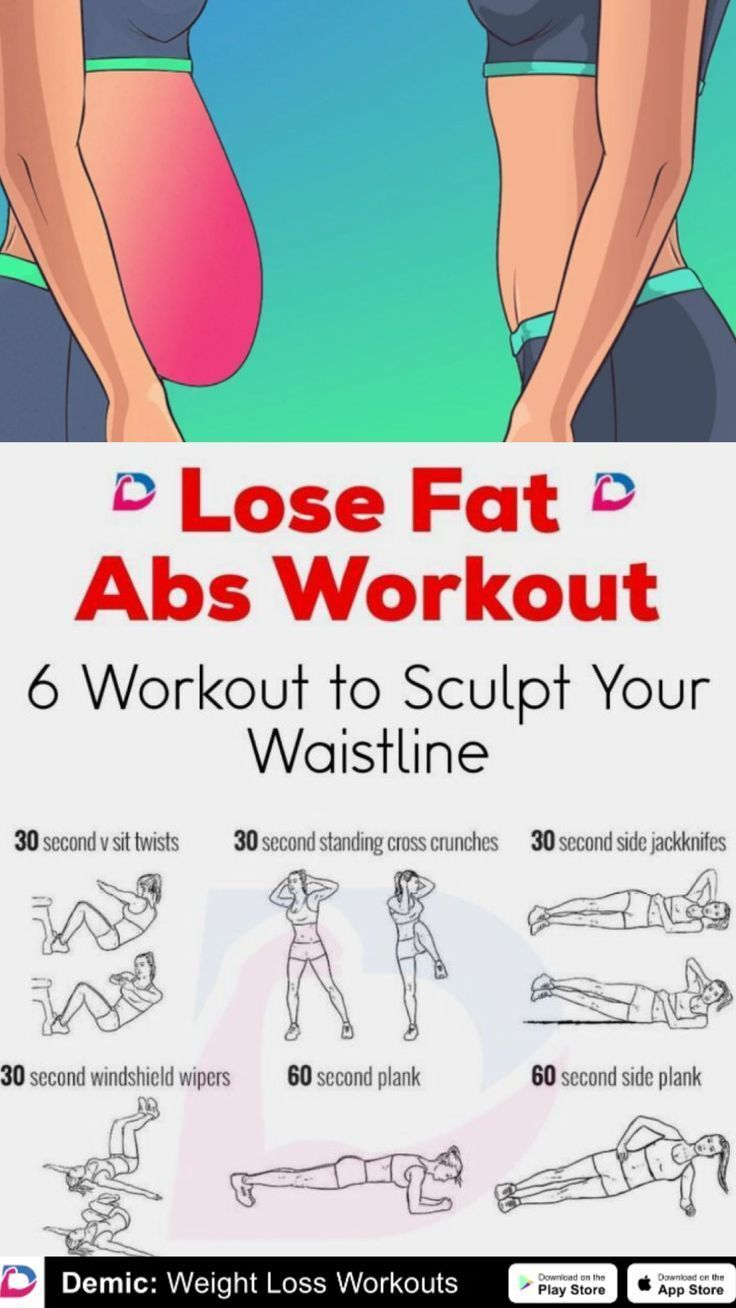 LOSE FAT: Abs workout for losing fat. Get rid of stomach fat with this workout. Flat belly workouts.
