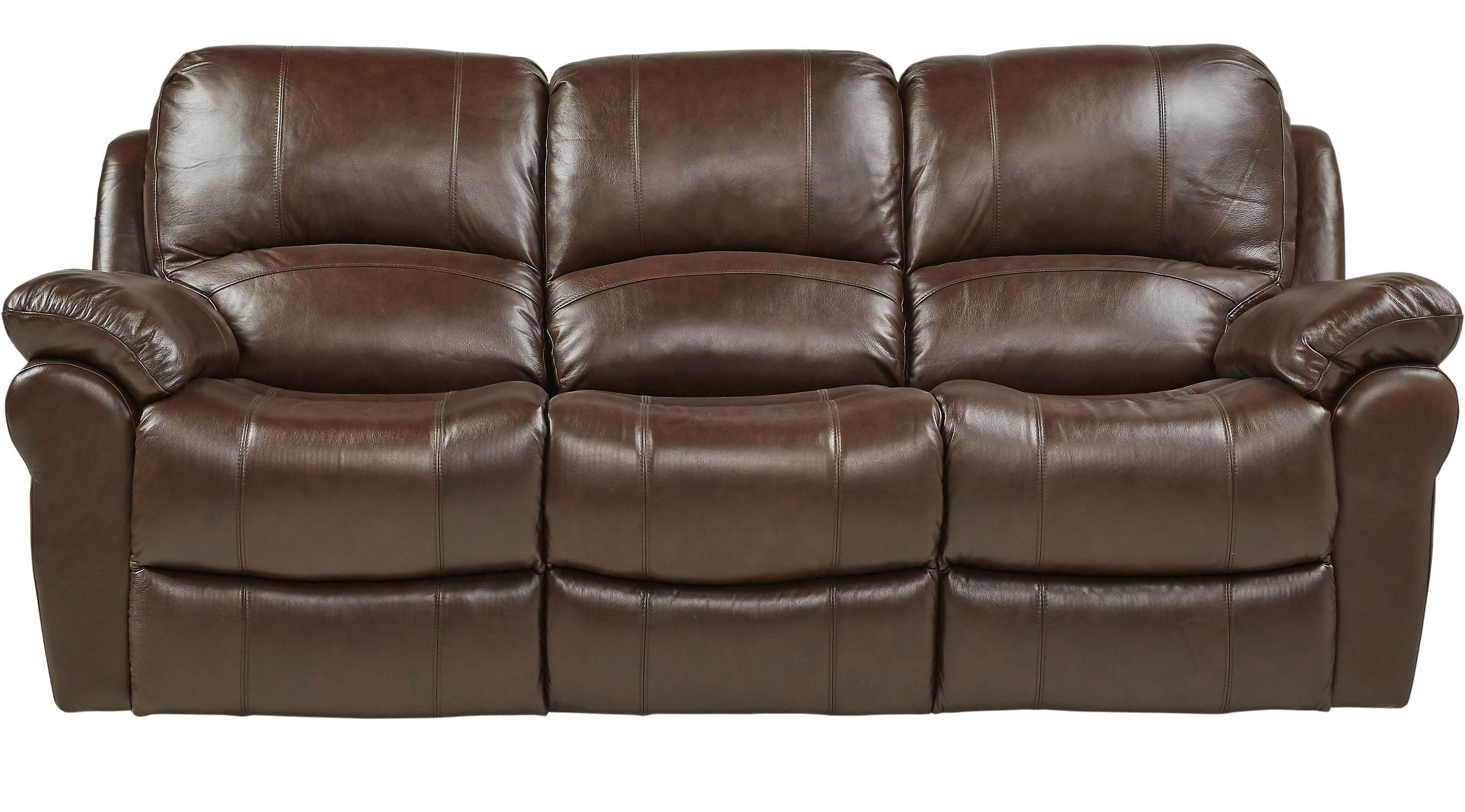 Leather Sofas Rooms To Go Vercelli Brown Leather Power