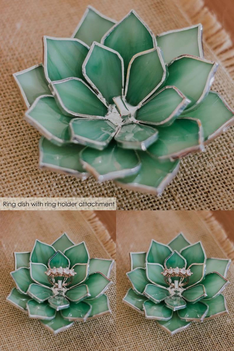Succulent Ring Holder Wedding Ring Dish Garden Wedding Decor