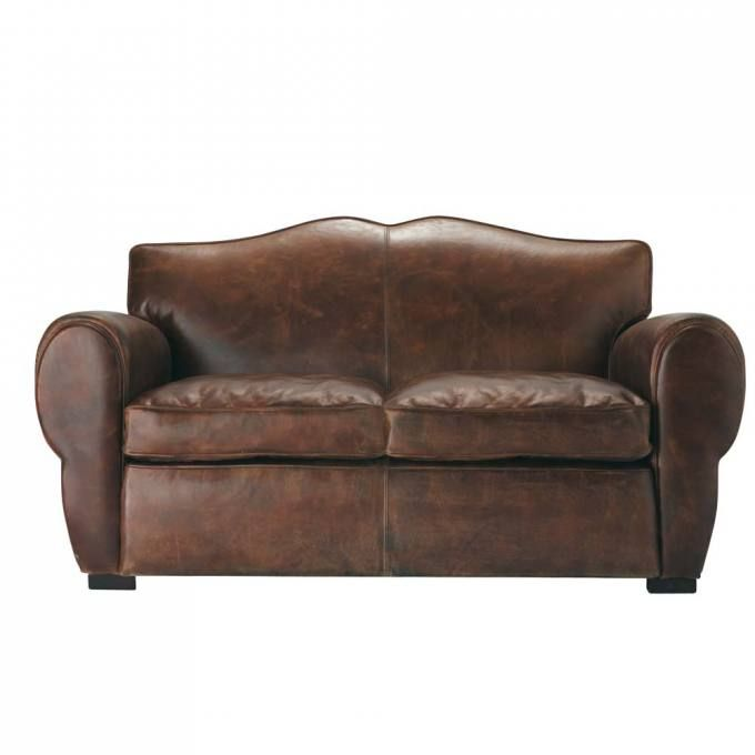 Leather sofa moustache Divani in pelle