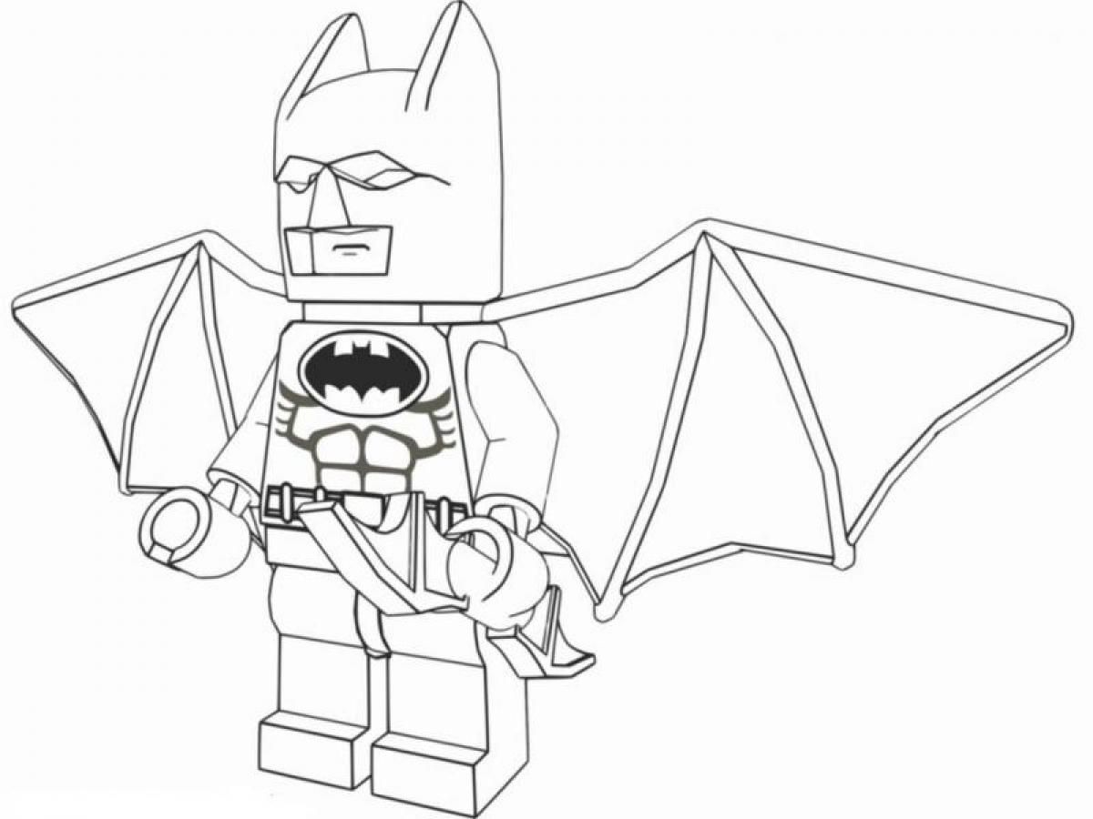 Lego spiderman coloring pages to print - Lego Batman Coloring Pages