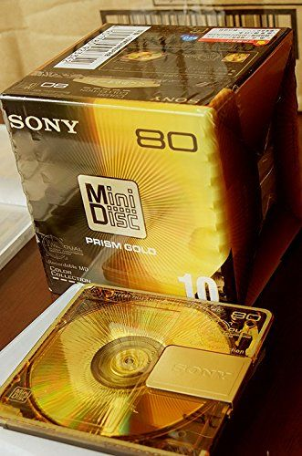 Sony Prism Gold Series Minidisk 80 Min 10 Pack Recordable Md Sony Lost Technology Prism