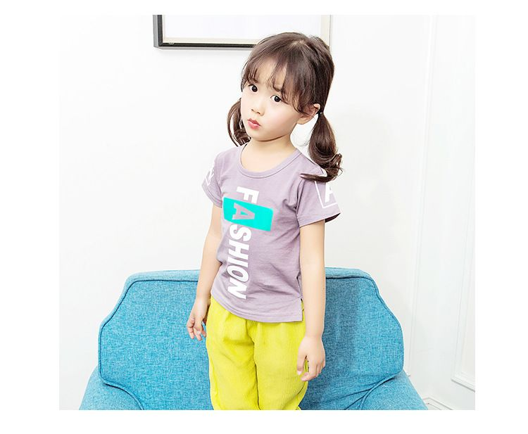 >> Click to Buy << Children's short-sleeved T-shirt English boys and girls baby T-shirt age from 1-5T #Affiliate