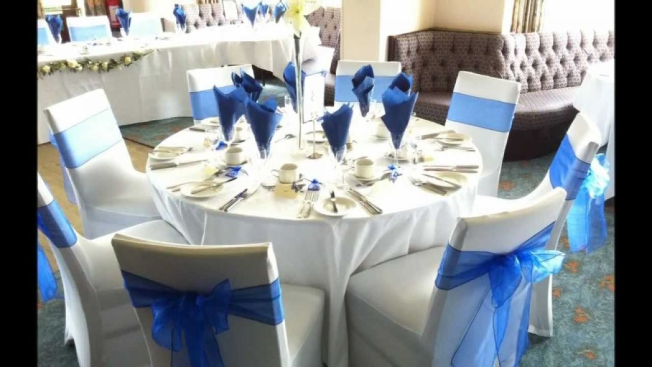 Wedding Table Decorations Blue Cerca Con Google My Ideas For
