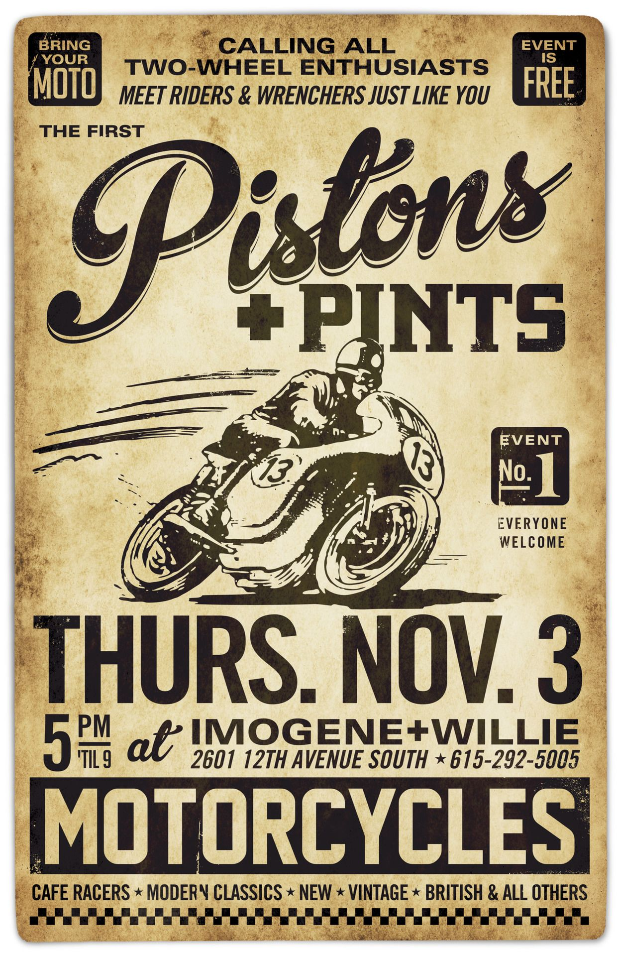 27 Inspiring Designs From Our Friends On Pinterest Vintage Motorcycle Posters Motorcycle Posters Vintage Posters
