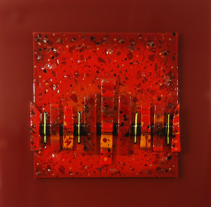 fused glass art design - passion Mark Briggs