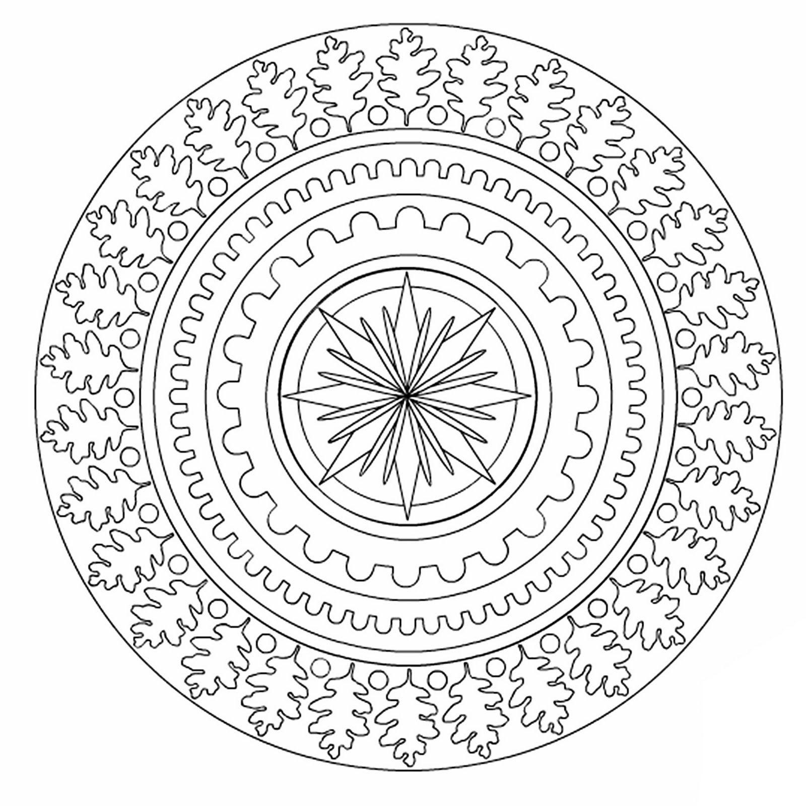Mandala Of The Lunar Quarter Mandala Coloring Pages Mandala Pattern