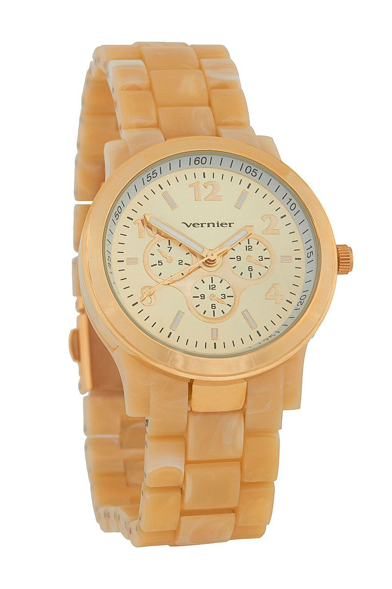 51557cb955e9 Venta Vernier   Reloj de Cuarzo de Silicona Dorado. Antes 55€ ahora 15€ en  divinitycollection.es
