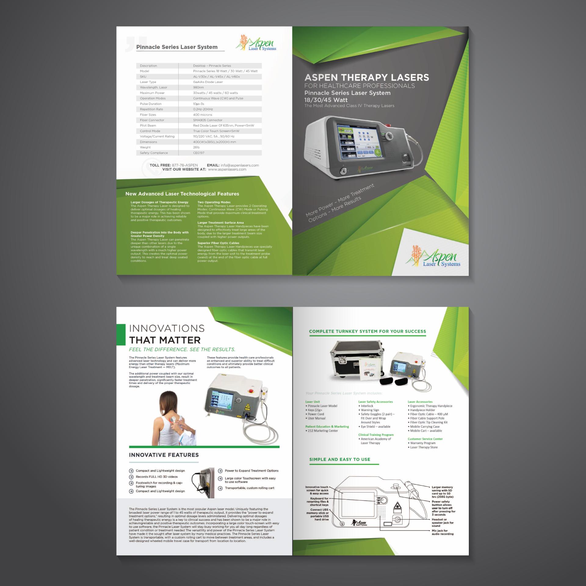 Medical Laser BiFold Brochure Bi fold brochure