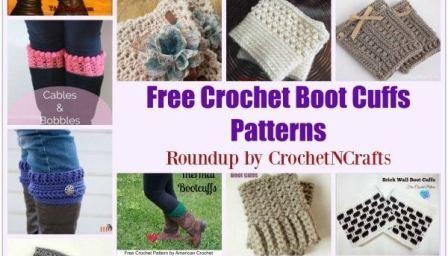 Free Crochet Boot Cuffs Patterns #bootcuffs
