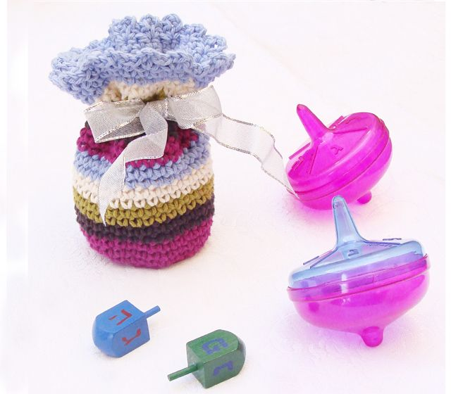 Crocheted gelt-gift pouch for Hannukah   Crochet   Pinterest   Lana ...