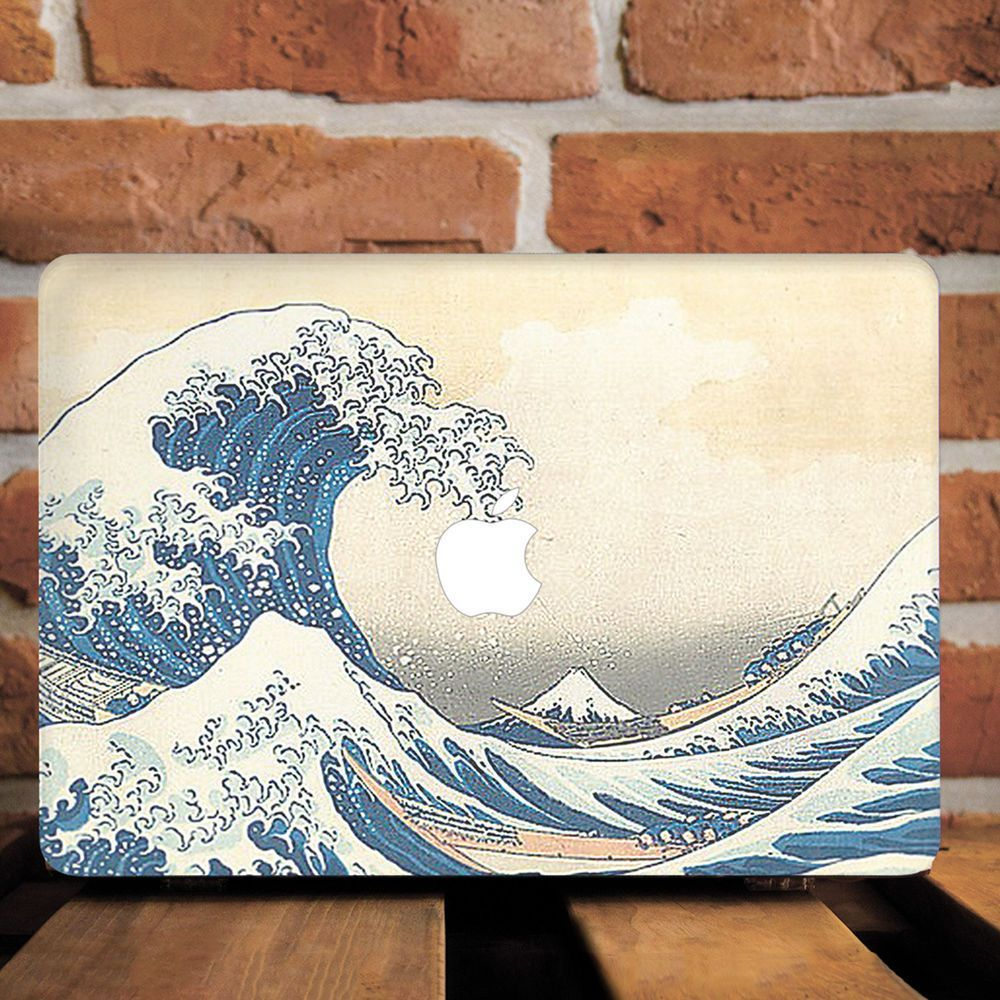 Great Wave Kanagawa Painting Hard Cover Case For Macbook Pro 12 13 15