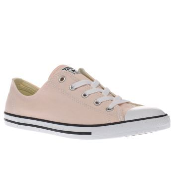 Converse Pale Pink All Star Dainty Canvas Ox Looking pretty in pastel pink, the Converse All Star Dainty Canvas Ox arrives to add a dash of girly charm to your shoe rotation. The popular silhouette features a canvas upper, complete with a white  http://www.MightGet.com/january-2017-13/converse-pale-pink-all-star-dainty-canvas-ox.asp