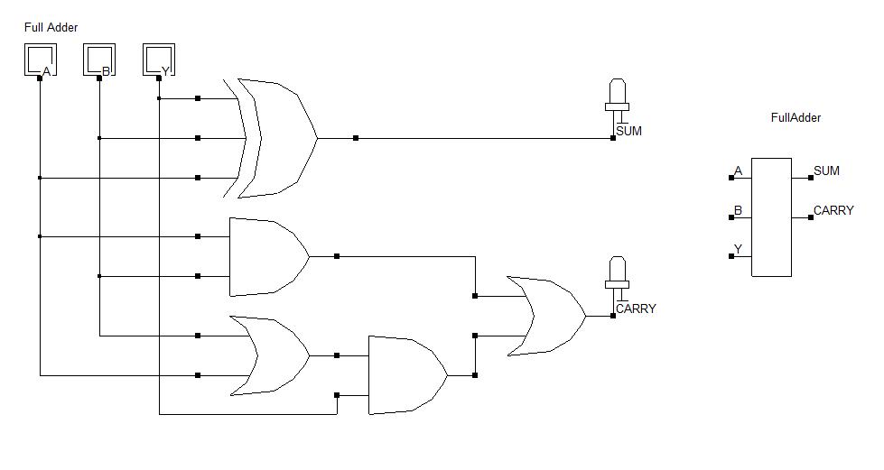 Full Adder Electronics Circuit Digital Circuit