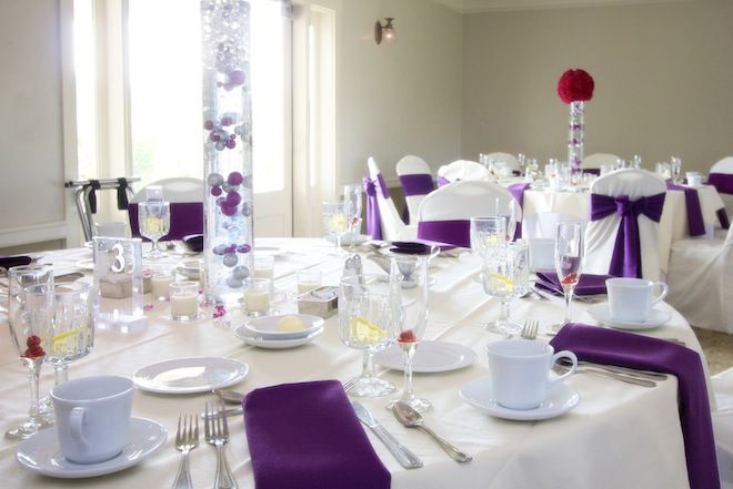 Incroyable Purple Wedding Table Decorations