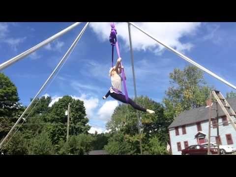 Aerial Sling Practice - Kama Fitness - Karlene Murphy