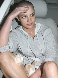 Very britney hair her shaved spear why