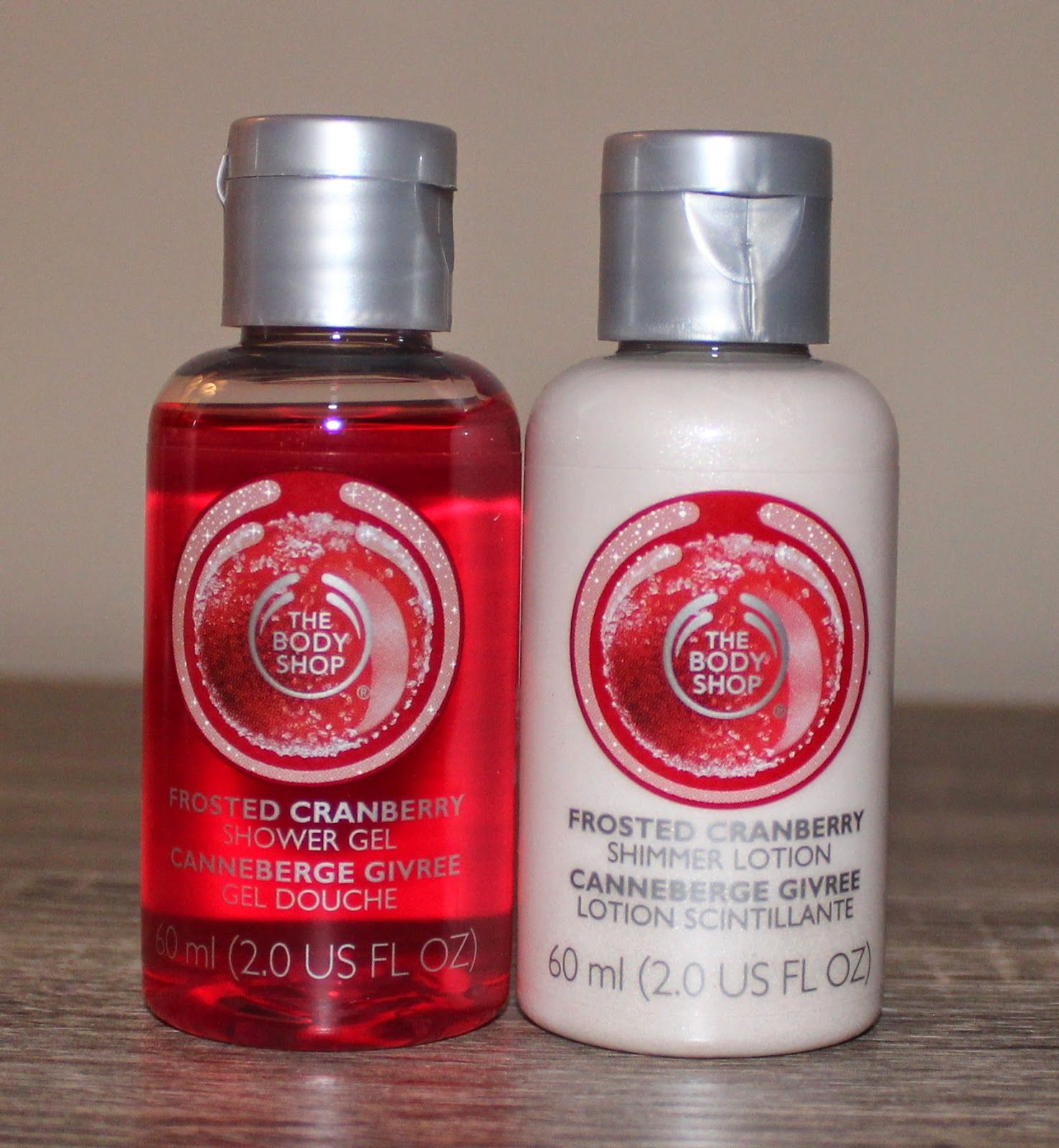 The Body Shop Frosted Cranberry Shower Gel & Shimmer Lotion ...
