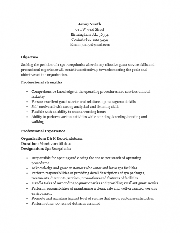 18 Free Receptionist Resume Templates Printable Word Pdf Resume Template Resume Templates Resume Skills