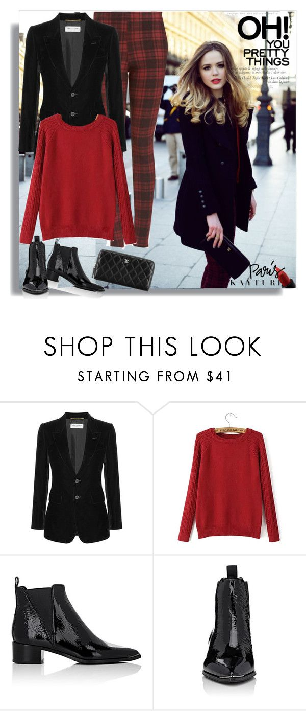 """""""Untitled #64"""" by craftsperson ❤ liked on Polyvore featuring Yves Saint Laurent, MAKE UP FOR EVER, Acne Studios and patentleather"""