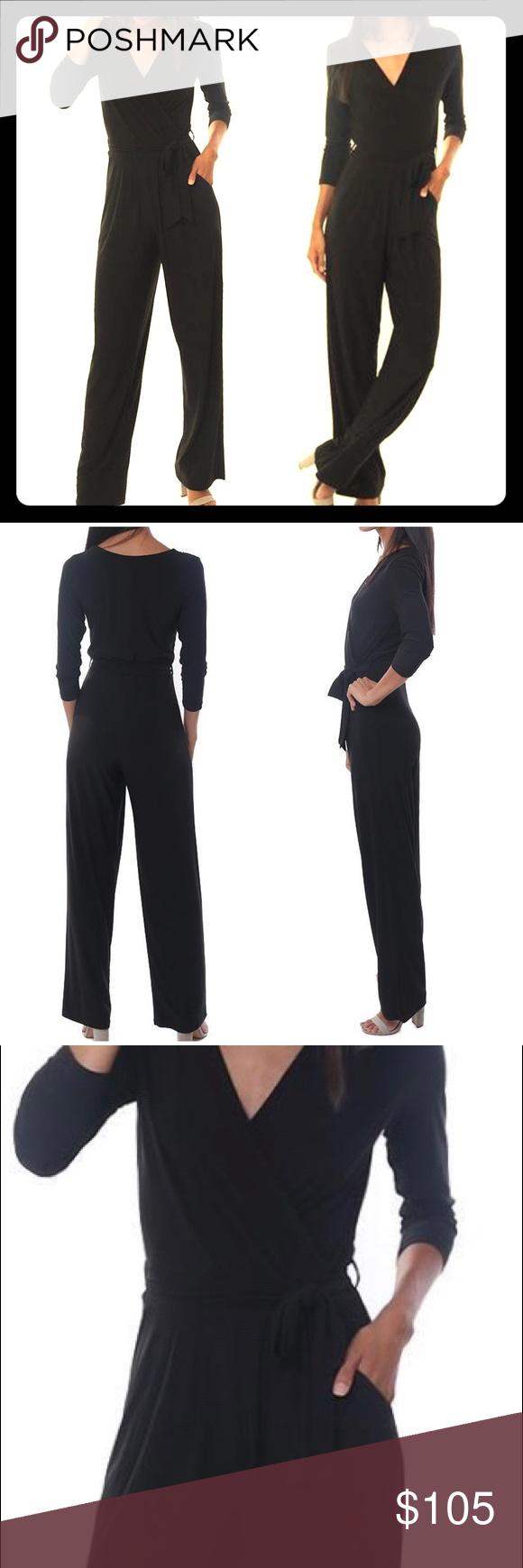 edfbace14719 NWT Last Tango 3/4 sleeve blk jumpsuit sz XS NWT NEVER WORN SIZE XS ...