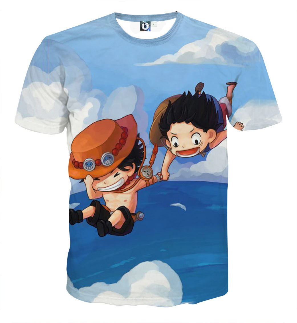 One Piece Shirts Kid Luffy And Ace T Shirt One Piece 3d T Shirt One Piece Shirt One Piece Luffy Tshirt Designs
