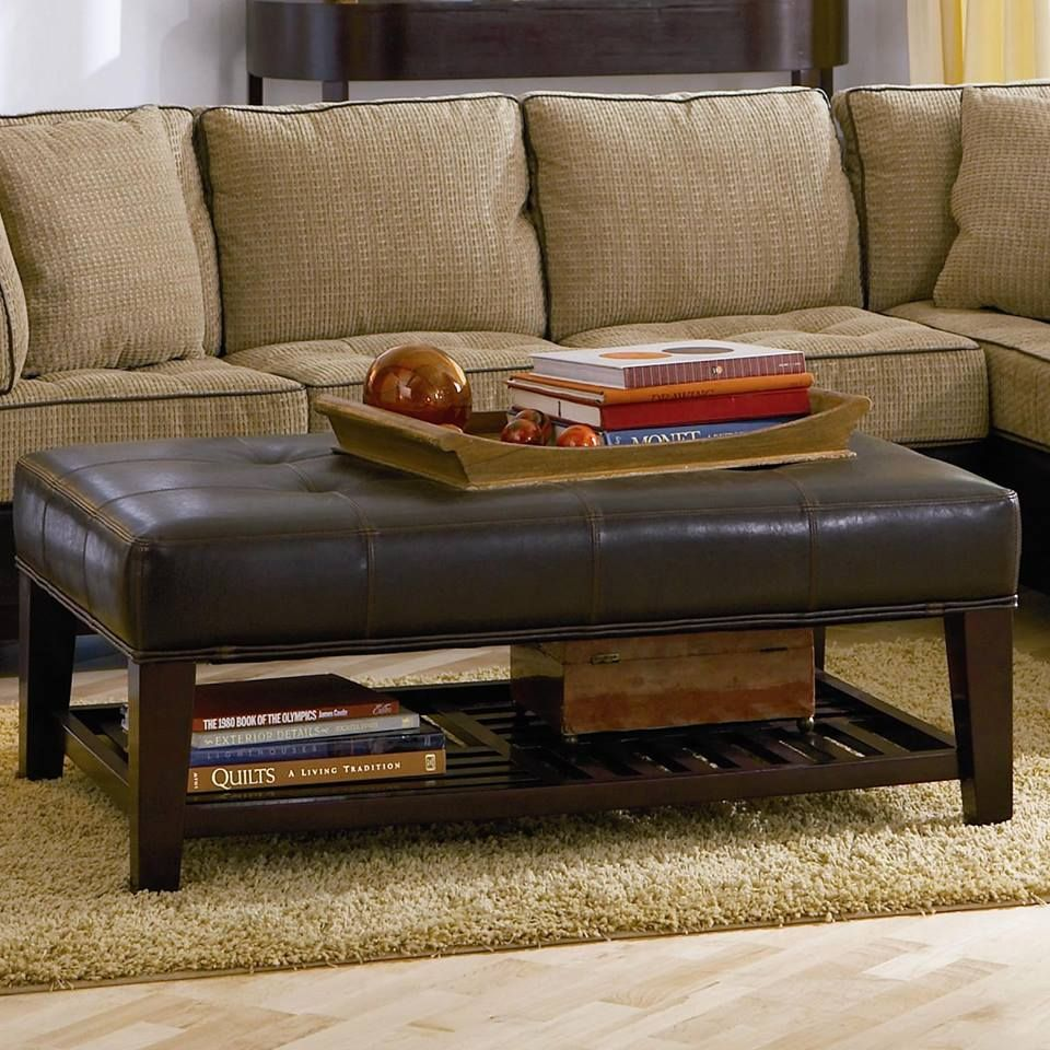 Claude Brown Microfiber Two Tone Ottoman by Coaster