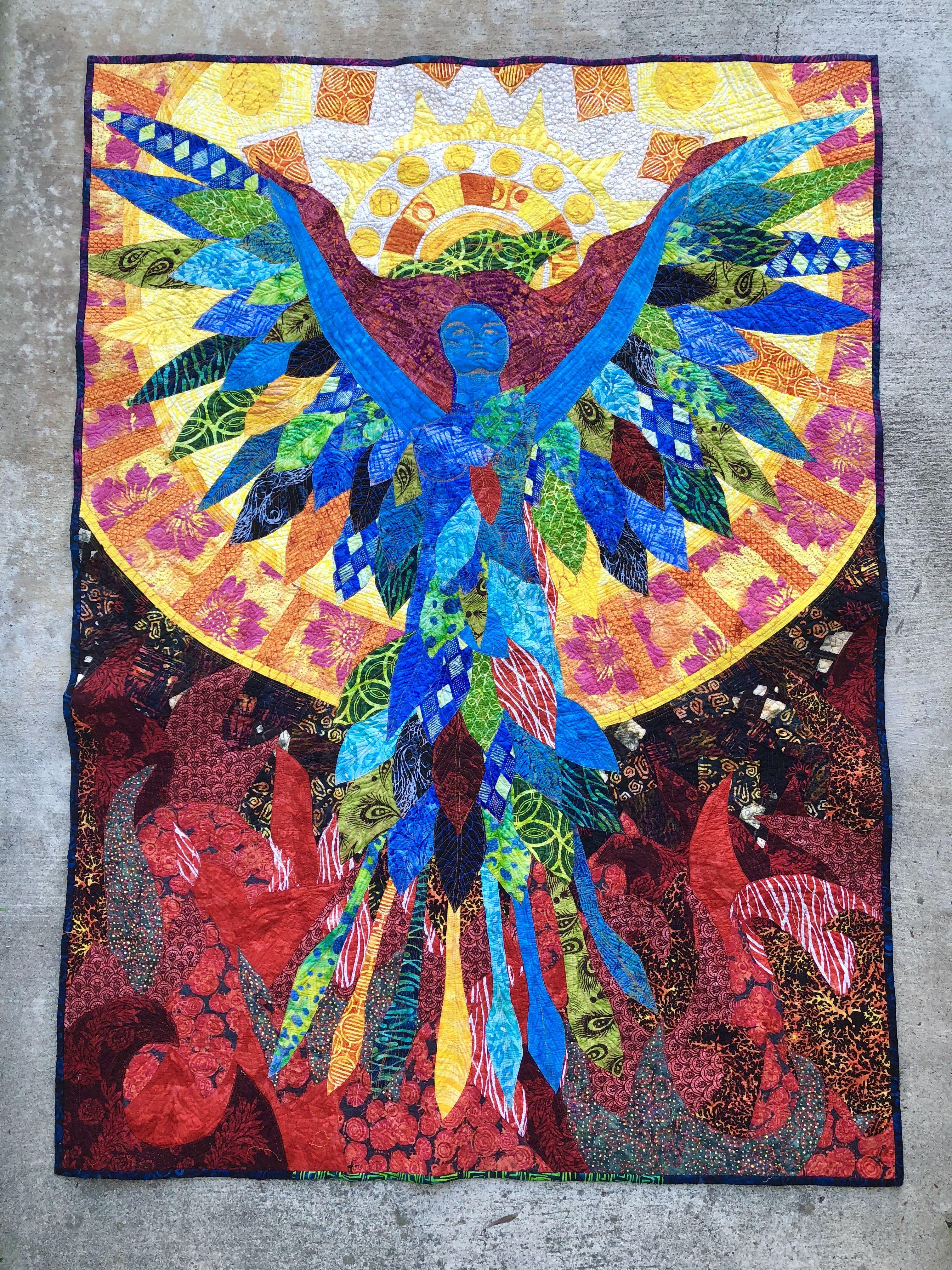 My Phoenix Quilt On My Instagram Crystalpiertextilearts All
