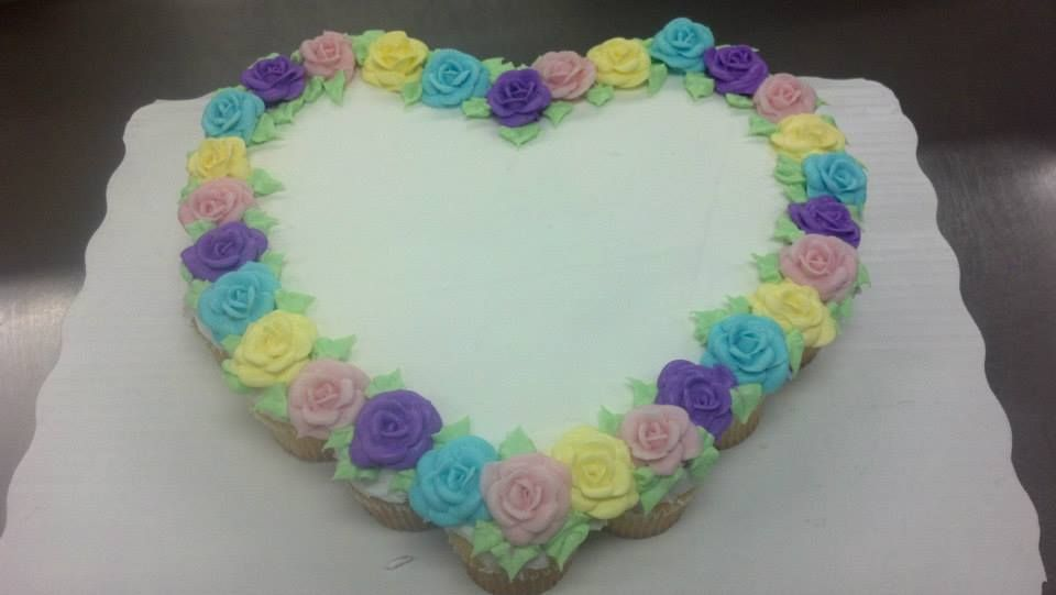 24 count cupcake cake. Pastel Roses. By April Linke