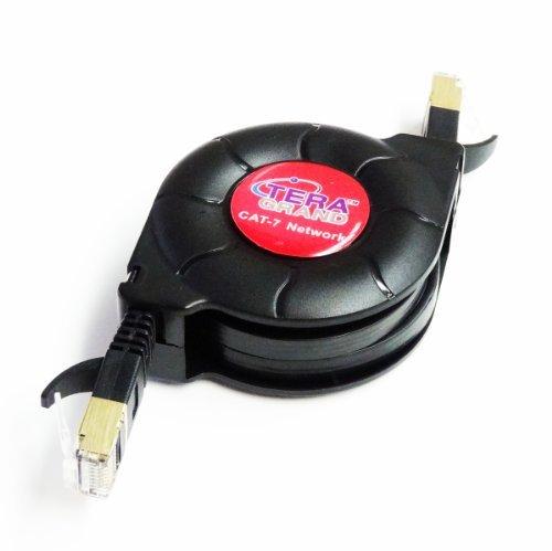 Premium Cat-7 10 Gigabit Ethernet Retractable Cable for Modem Router LAN Network