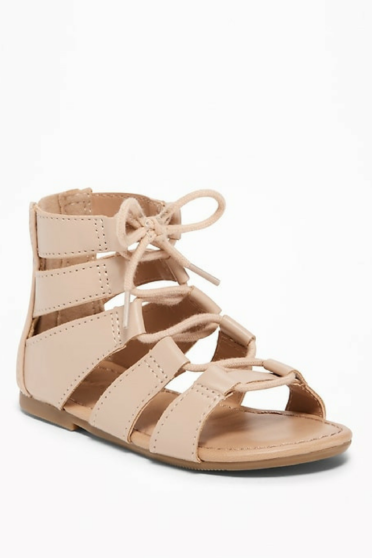 76af962236d Lace-Up Gladiator Sandals! These are adorable!  ad  oldnavy