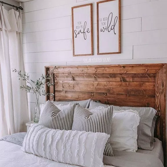 50 Amazing Farmhouse Home Decor Ideas To Get A Past Impression With Your Family 1 Recipeess Com Bedroom Styles Master Bedrooms Decor Farmhouse Master Bedroom