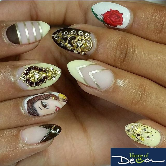 "Acrylic Nails Disney: Nail Art Inspired By Disney's ""Beauty And The Beast"