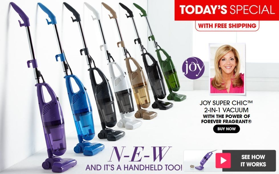 Joy Mangano Super Chic 2 In 1 Vacuum With The Power Of