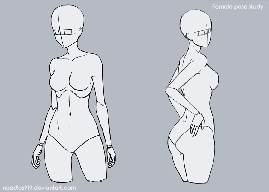 Female Pose Study 8 By Noodles919 Art Reference Poses Drawing Poses Art Poses