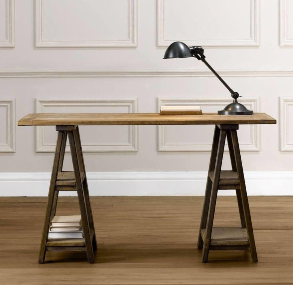 Glas Top Sawhorse Schreibtisch Custom Home Office Mobel Buromobel