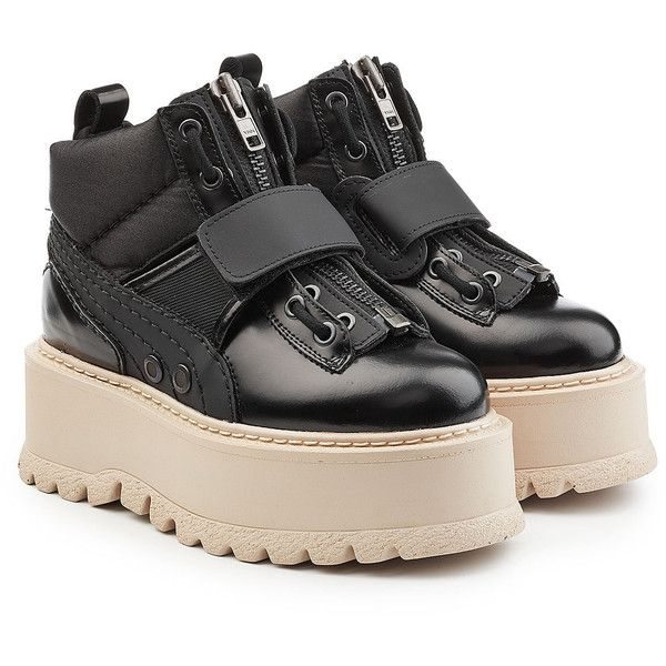 5131b23eb2f7 FENTY Puma by Rihanna Strapped Platform Sneakers ( 405) ❤ liked on Polyvore  featuring shoes