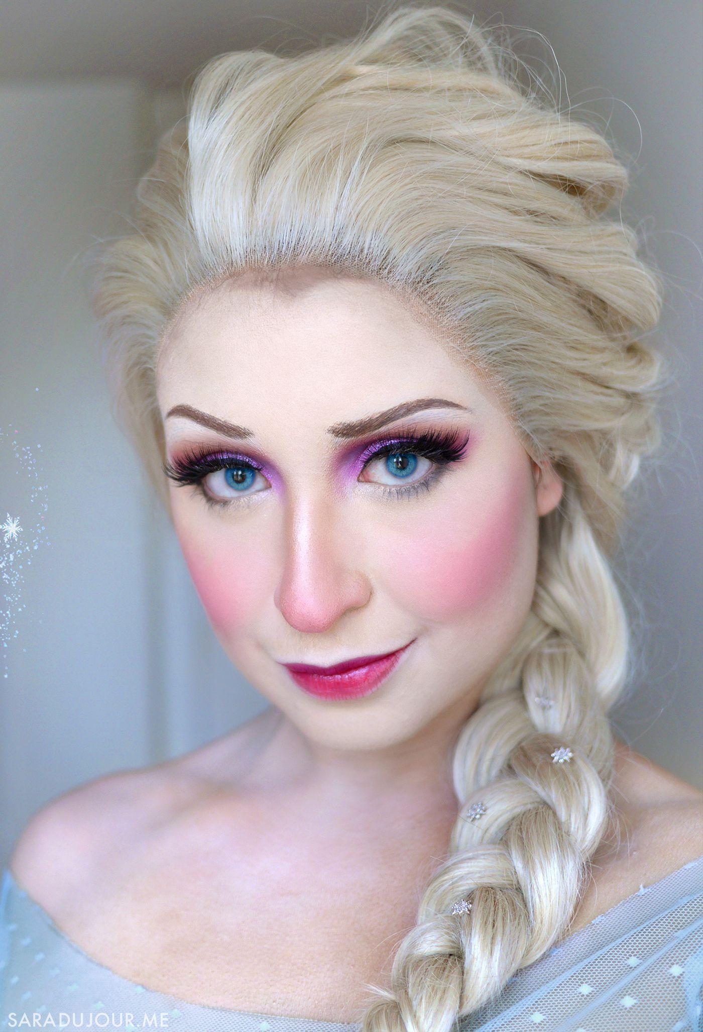 Elsa Frozen Cosplay Makeup Sara Du Jour Elsa Frozen Hair Cosplay Makeup Frozen Hair