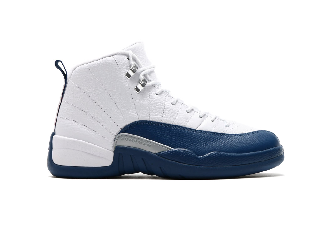 b53eda99c192 ... retro 12 women A Close-Up Of The Air Jordan 12 French Blue . ...
