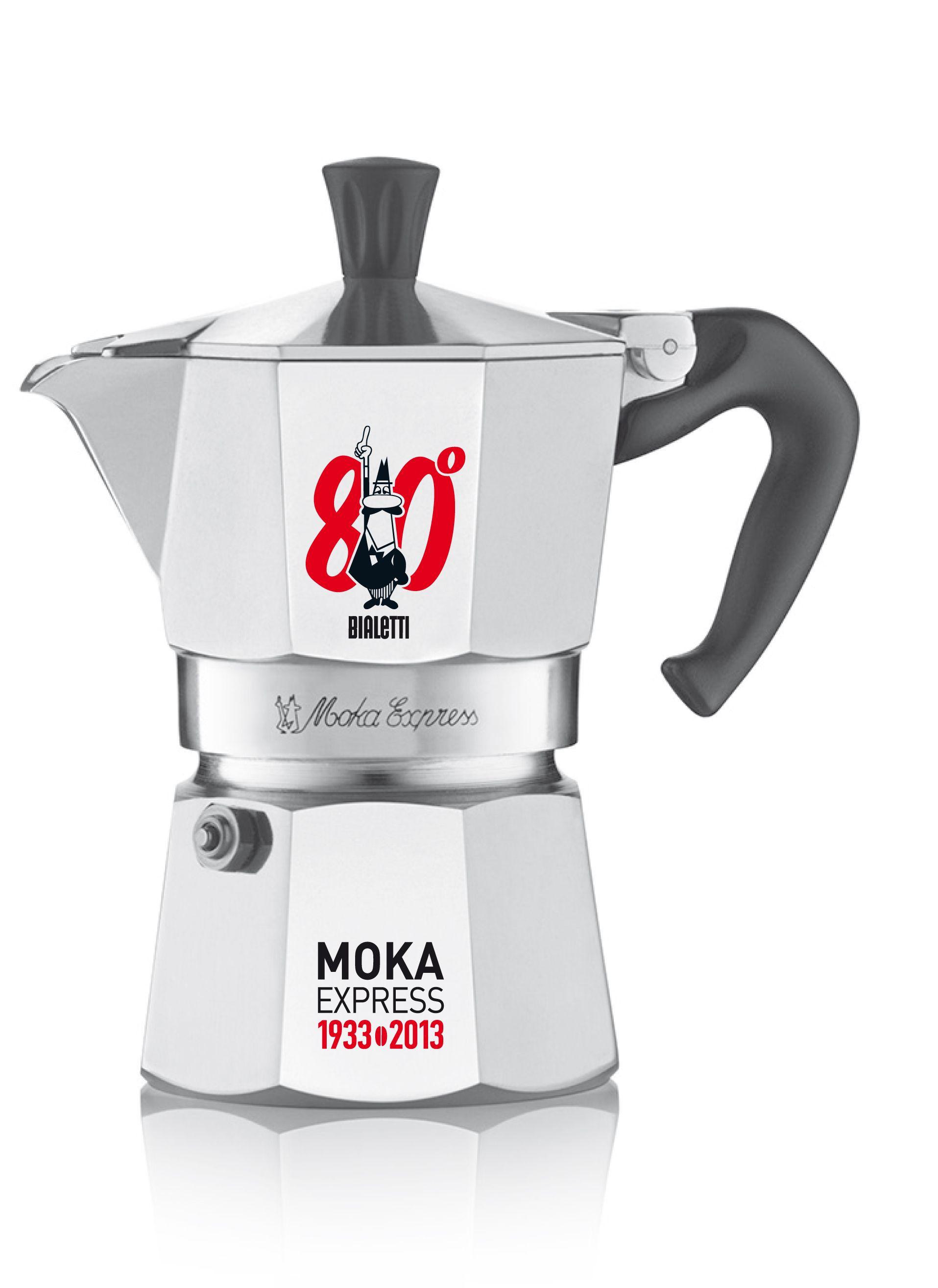 In 80 anni di storia, la Moka è sempre in ottima forma.