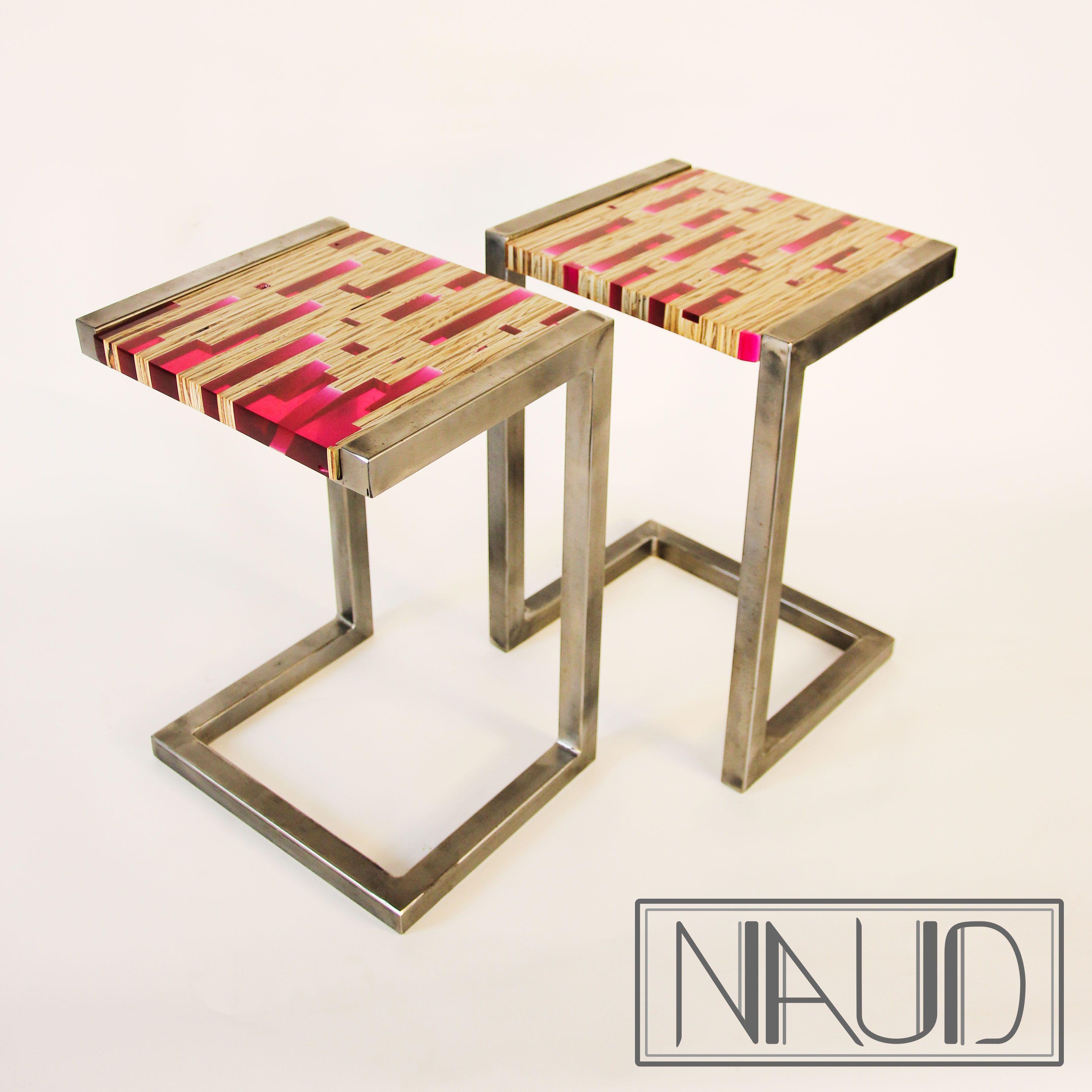 Meuble Avec Resine Epoxy gu�ridons 1, petit meuble design r�alis� en bois et r�sine