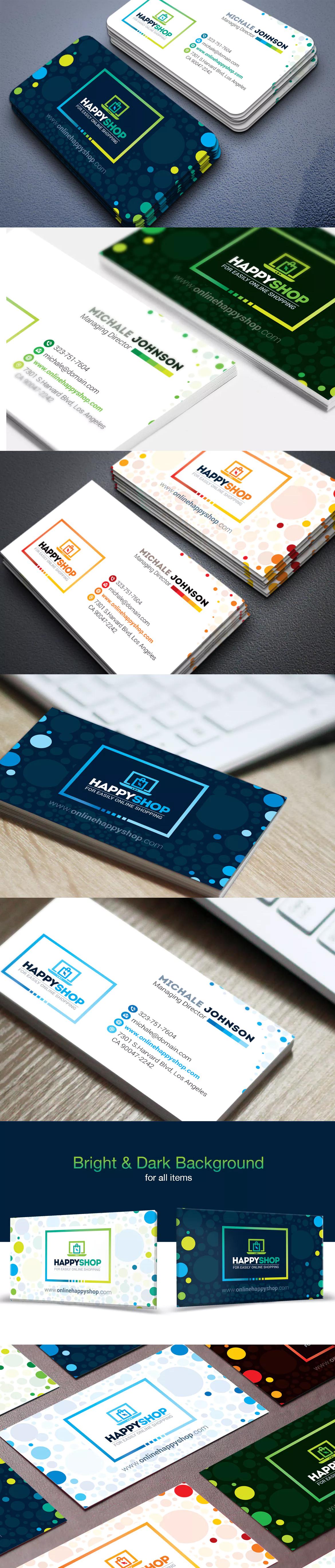Happyshop business card e commerce online template ai eps happyshop business card e commerce online template ai eps psd wajeb Gallery