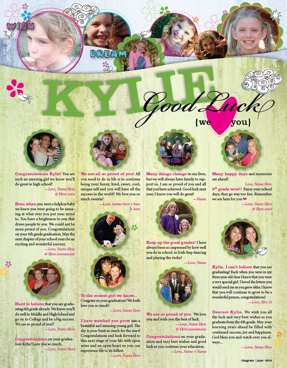 Have someone design yearbook pages! Magazine page style Custom ...