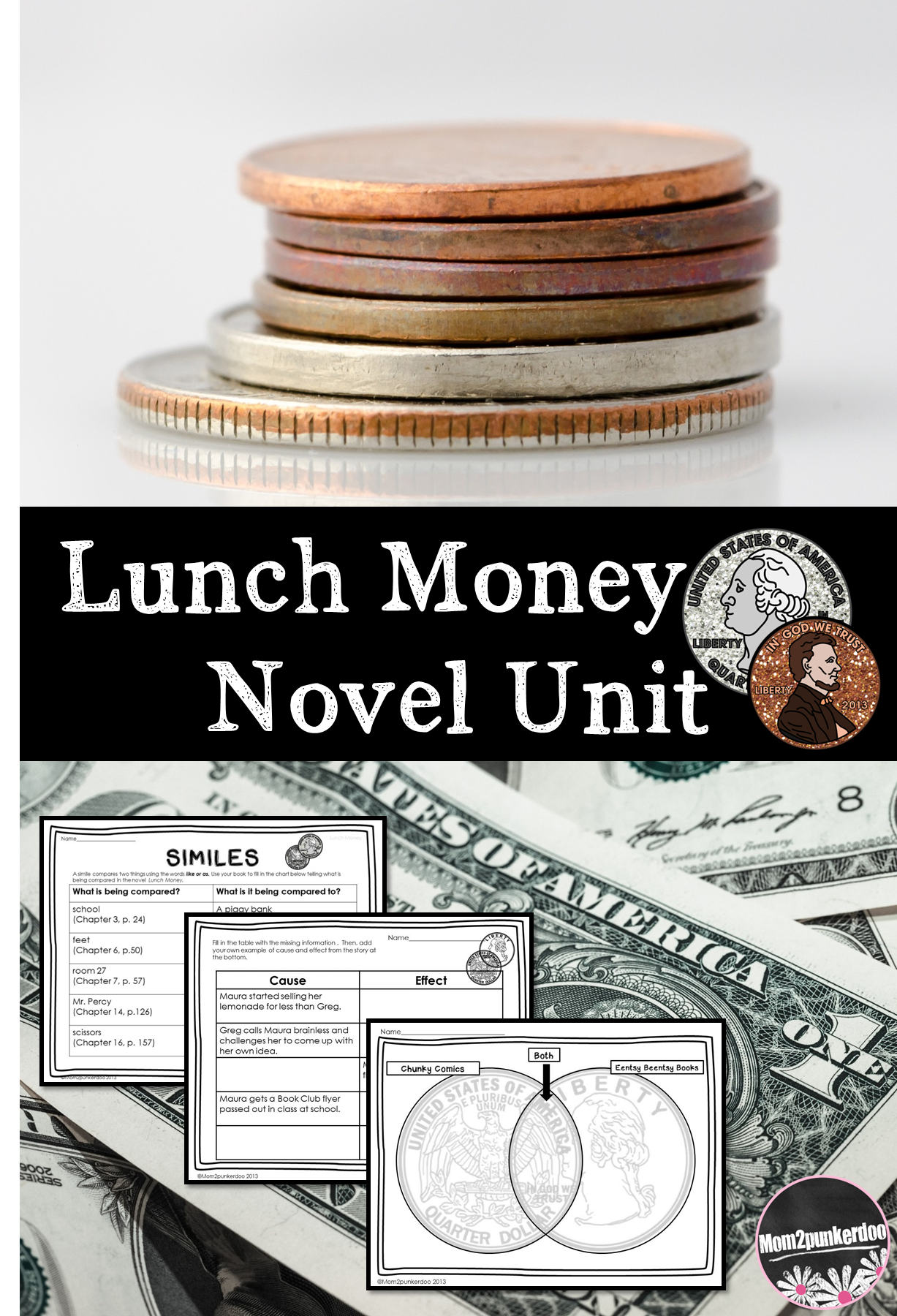 Lunch Money Novel Unit For Andrew Clement S Book Perfect Book For Integrating Money Lessons And Economics While You Novel Units Lunch Money Teaching Literature